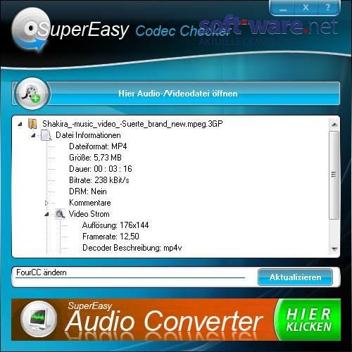 SuperEasy Codec Checker 1.09 - Download (Windows / Deutsch) bei SOFT ...