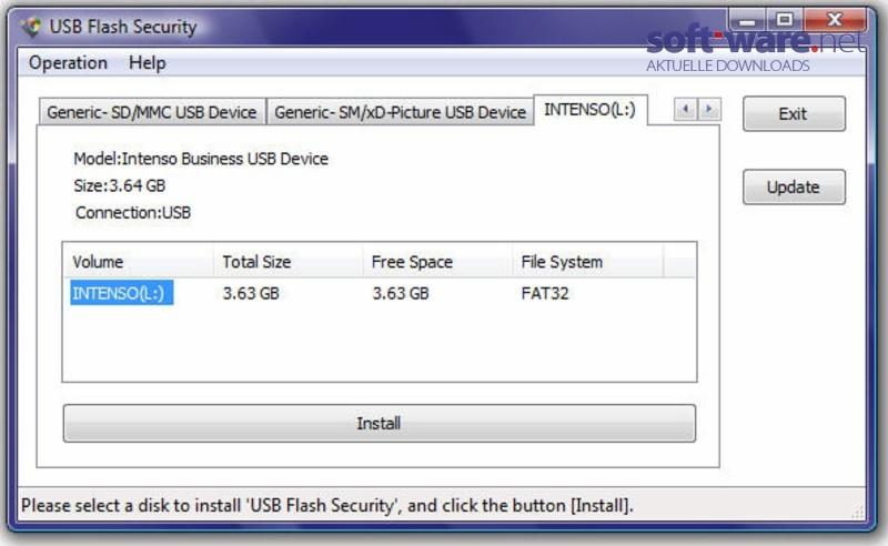 einen usb stick mit passwort schützen