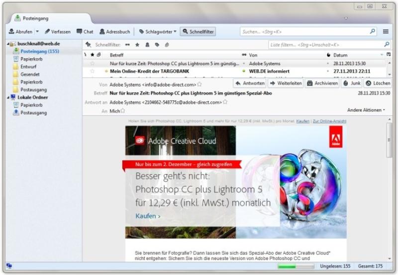 Mozilla Thunderbird 24 - Download (Windows / Deutsch) bei SOFT-WARE NET