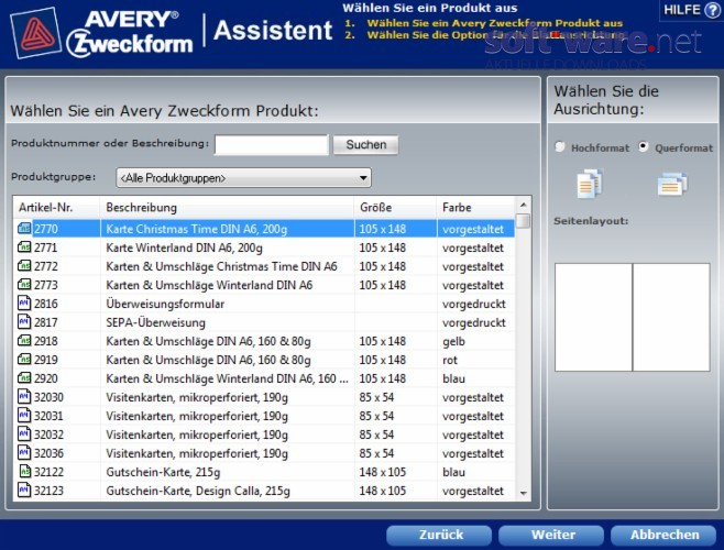Avery Zweckform Assistent 4 0 2 Download Windows
