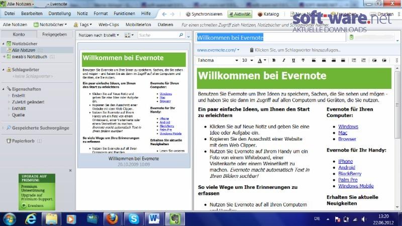 Evernote Download Windows Deutsch Bei Soft Ware Net