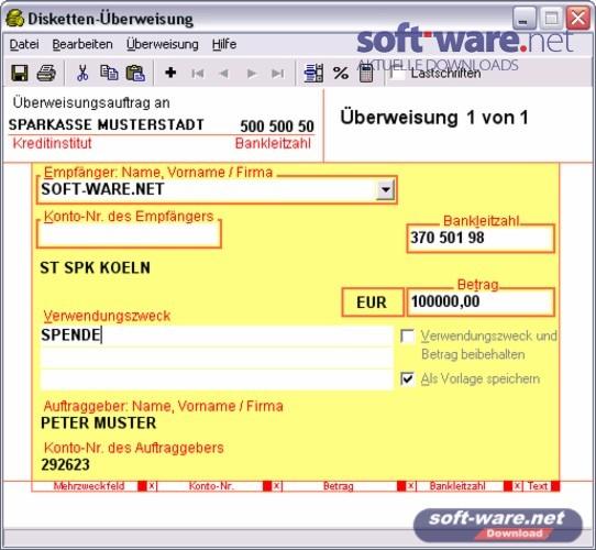 berweisung screenshot - Uberweisung Muster