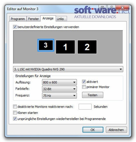 UltraMon - Download (Windows / Deutsch) bei SOFT-WARE NET