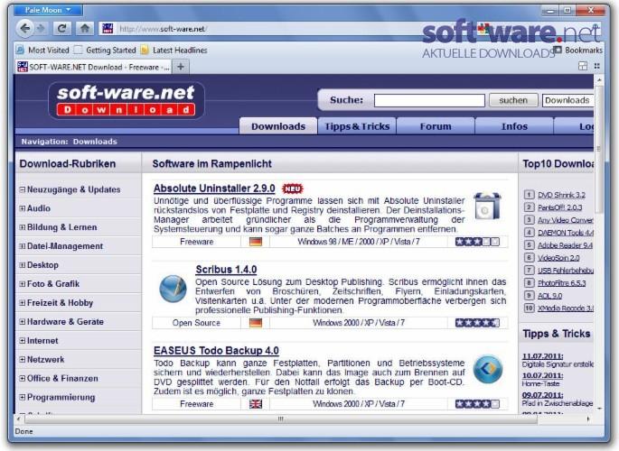 Pale Moon - Download (Windows / Deutsch) bei SOFT-WARE NET