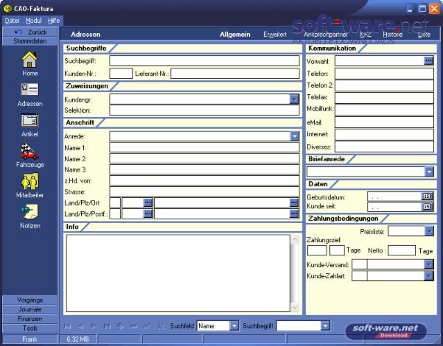 Cao Faktura Download Windows Deutsch Bei Soft Warenet