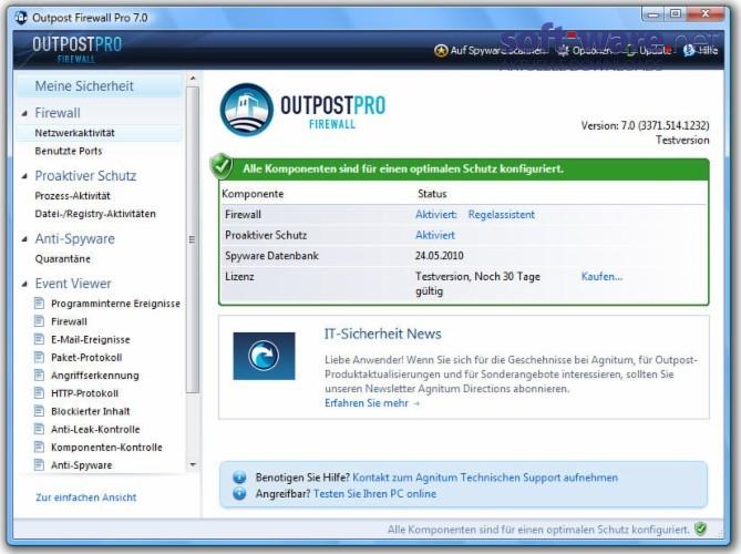 Outpost Firewall Pro Download Windows Deutsch Bei Soft Ware Net