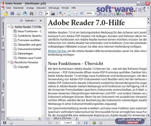 adobe reader 7.1.0 kostenlos