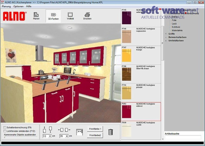 Küchenplaner 3d kostenlos  ALNO Küchenplaner 0.99a - Download (Windows / Deutsch) bei SOFT ...