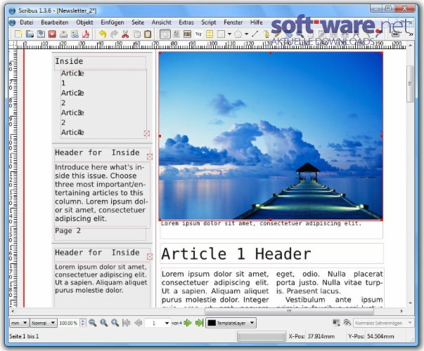 Scribus Download Windows Deutsch Bei Soft Ware Net