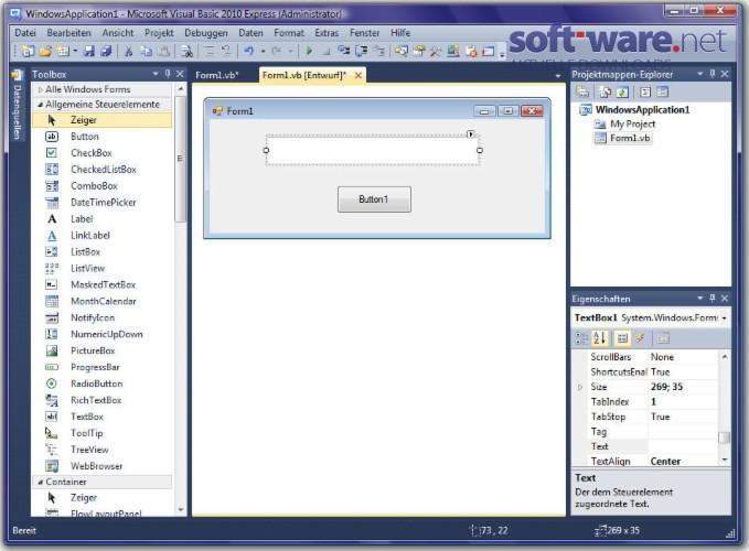 Visual Basic 2010 Express Edition - Download (Windows / Deutsch) bei
