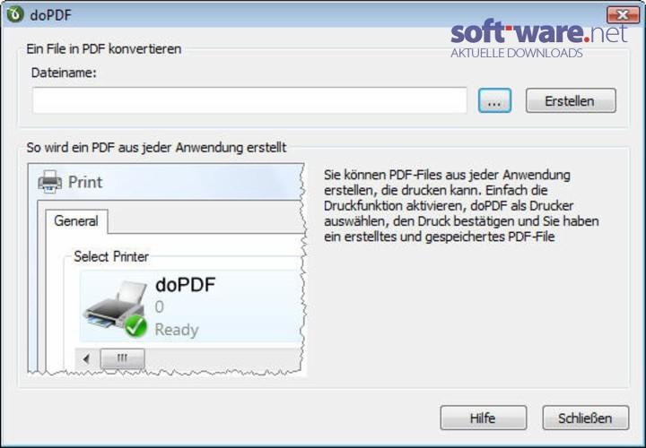 WatFile.com Download Free doPDF - Download (Windows Deutsch) bei SOFT-WARE NET