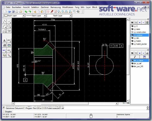 qcad 2 2 download windows deutsch bei soft ware net. Black Bedroom Furniture Sets. Home Design Ideas