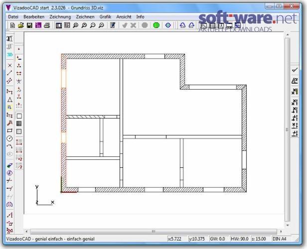 vizadoocad start 2 3 download windows deutsch bei. Black Bedroom Furniture Sets. Home Design Ideas