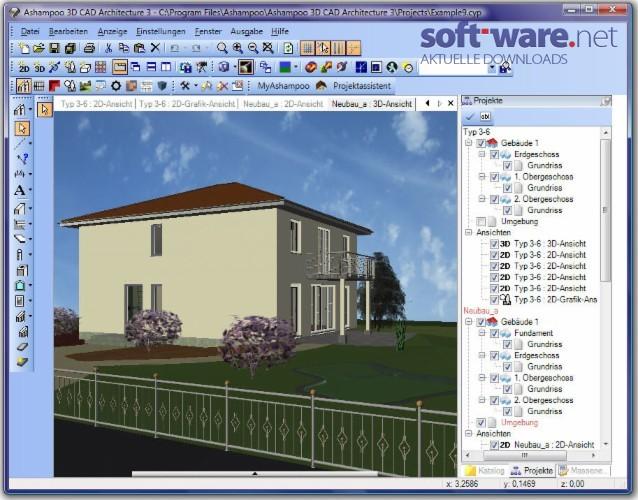 ashampoo 3d cad architecture 3 0 2 download windows deutsch bei soft ware net. Black Bedroom Furniture Sets. Home Design Ideas