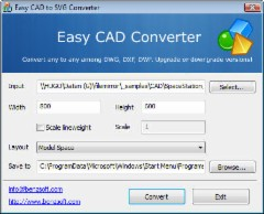 Easy CAD to SVG Converter 2.50