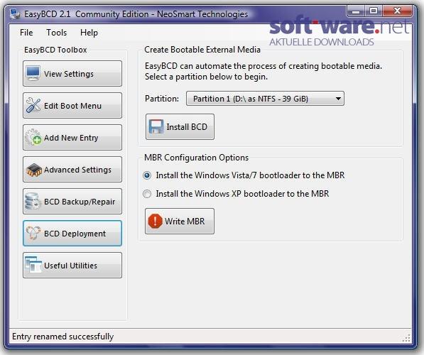 EasyBCD - Download (Windows / Deutsch) bei SOFT-WARE.NET