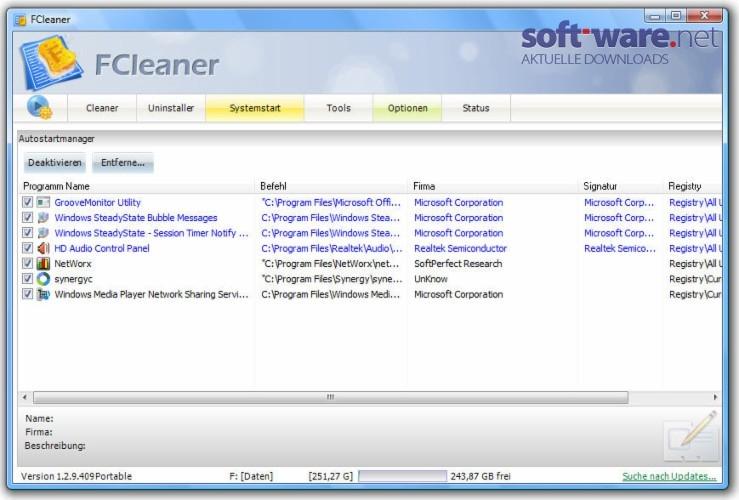 FCleaner 1.3.1 (Deutsch) - Download (Windows / Deutsch ...