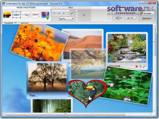 fotowall 0 9 download windows deutsch bei soft ware net. Black Bedroom Furniture Sets. Home Design Ideas