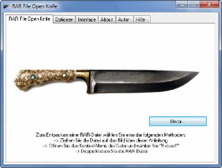 RAR File Open Knife Screenshot