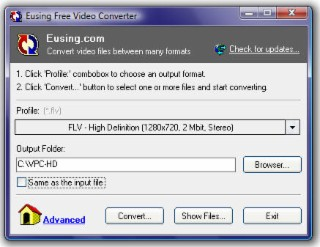 Eusing Converter Screenshot