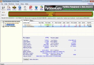 PartitionGuru Screenshot