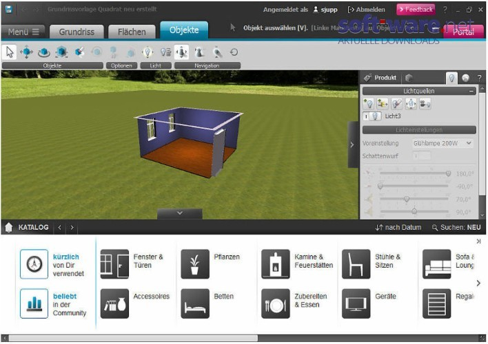 roomeon 1 4 download windows deutsch bei soft ware net. Black Bedroom Furniture Sets. Home Design Ideas