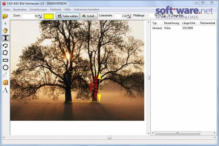 Grundriss Zeichnen In Excel : BildVermessen  Download (Windows  Deutsch) bei SOFTWARENET