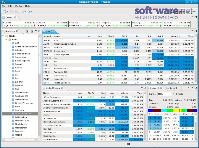 Trading system software