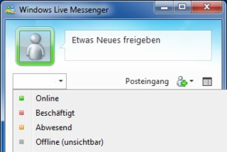 Windows Live Messenger 2012 Screenshot