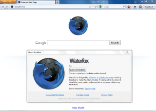 Waterfox Screenshot