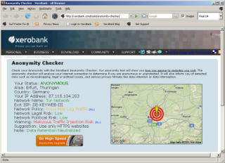 XeroBank Browser Screenshot