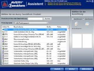 Avery Zweckform Assistent Screenshot