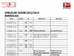 Spielplan 1. Bundesliga