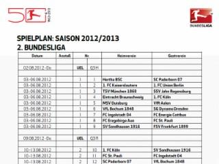 Spielplan 2. Bundesliga 20/21