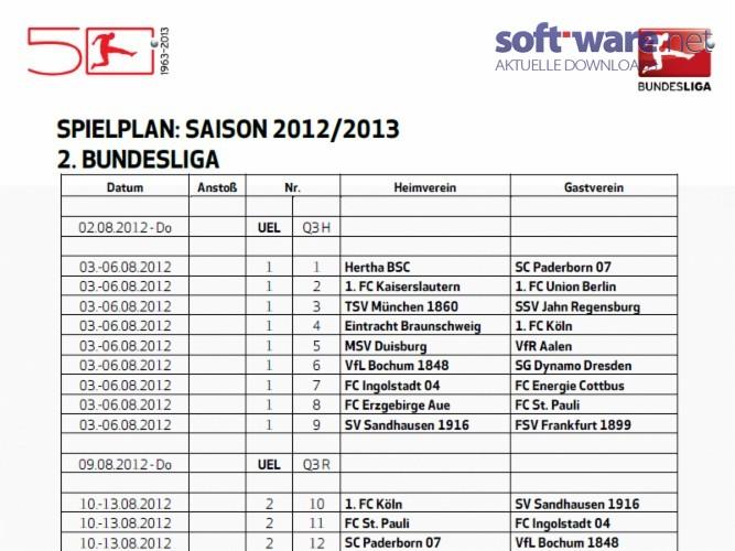 2 bundesliga spielplan saison 2012 2013 download for Tabelle 2 liga