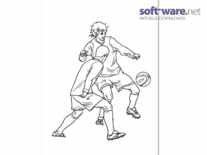 fußball ausmalbilder - download (windows / deutsch) bei