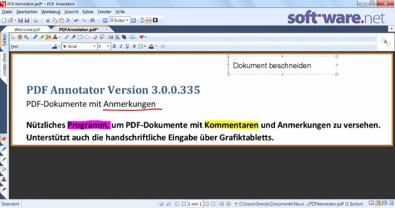 pdf annotator download windows deutsch bei soft ware net. Black Bedroom Furniture Sets. Home Design Ideas