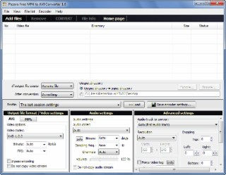 MP4 to AVI Converter Screenshot
