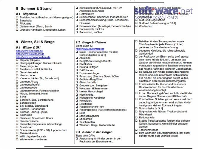 alfs reise-checkliste   deutsch  bei soft