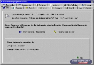 Autostartmanager Screenshot