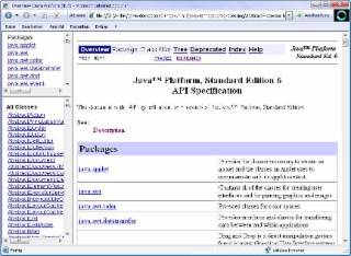 Java Dokumentation Screenshot
