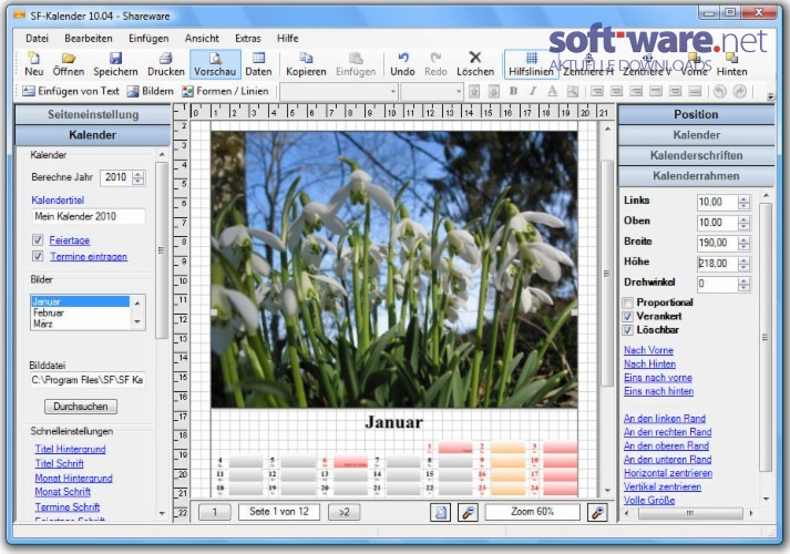sf kalender download windows deutsch bei soft ware net. Black Bedroom Furniture Sets. Home Design Ideas