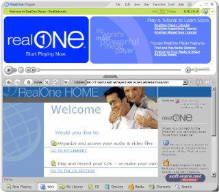 RealOne Player Screenshot