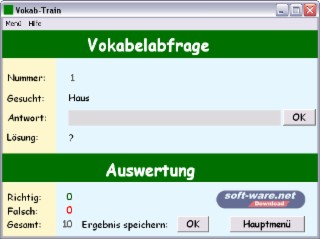 Vokab-Train Screenshot
