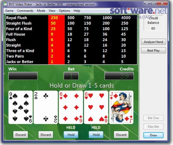 Comments on BVS Video Poker