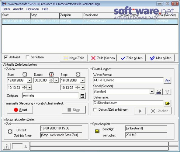waverecorder 2 43   deutsch  bei soft