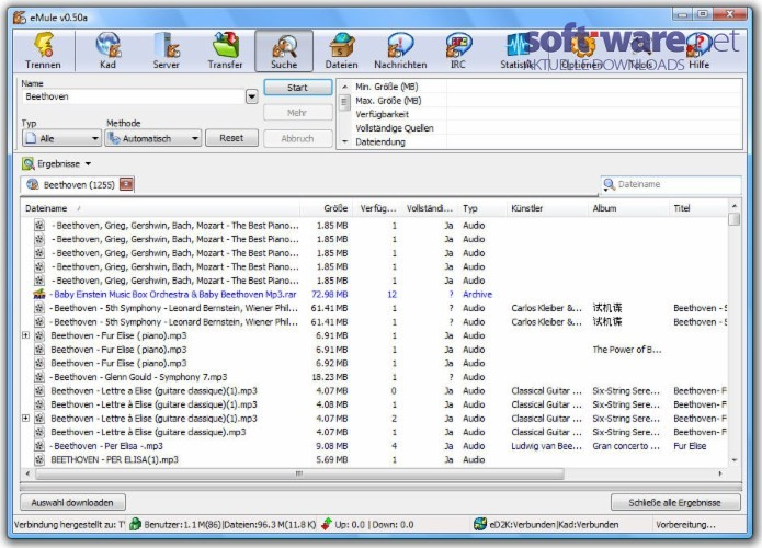 Emule download windows deutsch bei soft ware net for Porte emule 0 50a