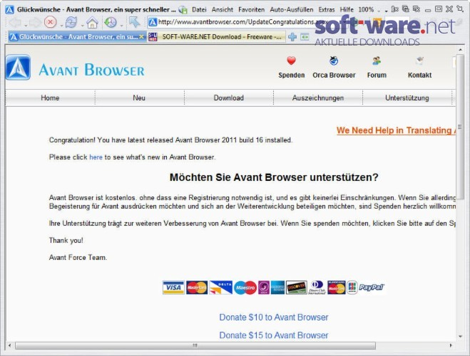 Avant Browser 2018 build 5 - Descargar