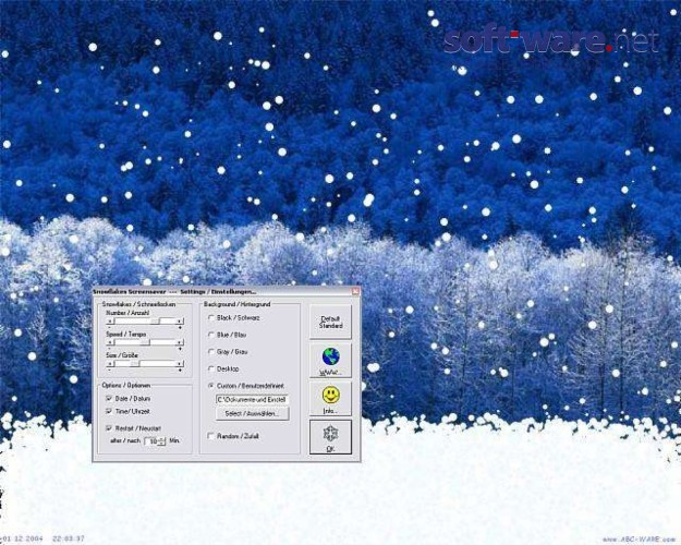snowflakes screensaver download windows deutsch bei. Black Bedroom Furniture Sets. Home Design Ideas