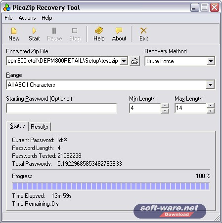 Zip Recovery Screenshot